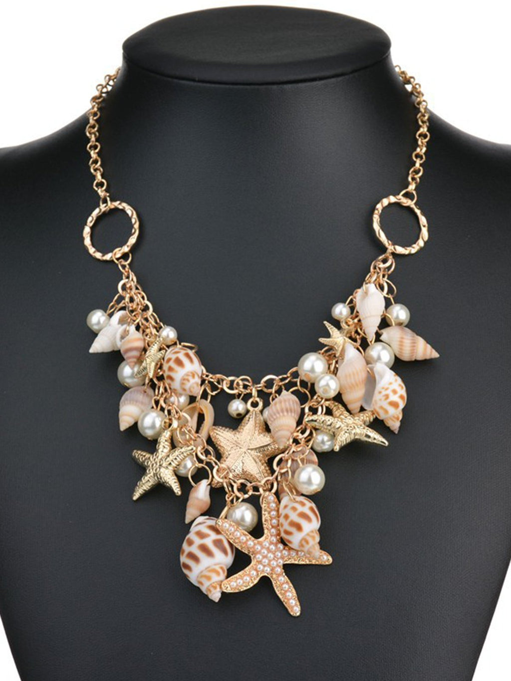 Beach Sparkling Starfish Shell Necklace Or Bracelet