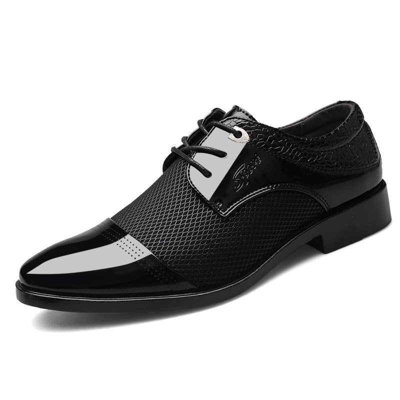 Men Stylish Hollow Out Cap Toe Business Formal Dress Shoes