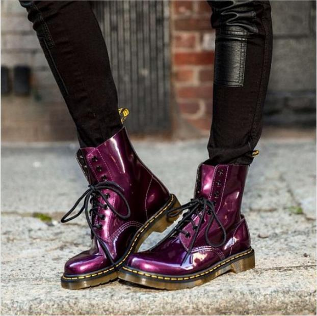 Retro Lace-Up Handsome Motorcycle Women Boots