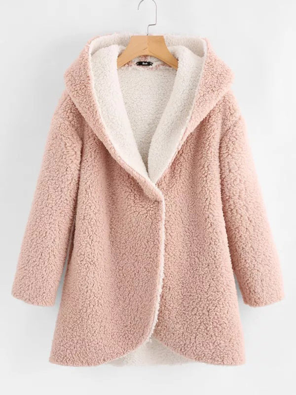 Hoodie Long Sleeve Patchwork Casual Coats