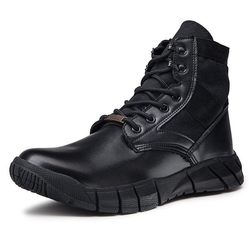 Men Mid-high Stitching Outdoor Boots Leisure Sports Slip Resistant Shoes