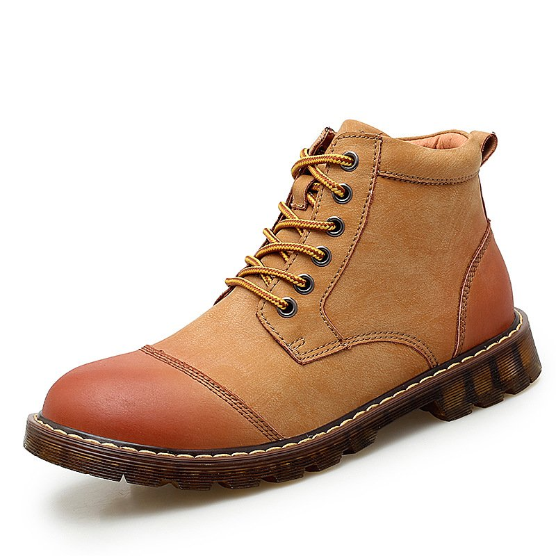 Men's Outdoor High-top Boots Slip Resistant Handsome Lace-up Tooling Shoes