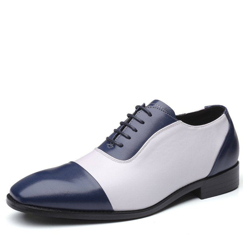 Men Pure Color Soft Slip Resistant Formal Dress Shoes