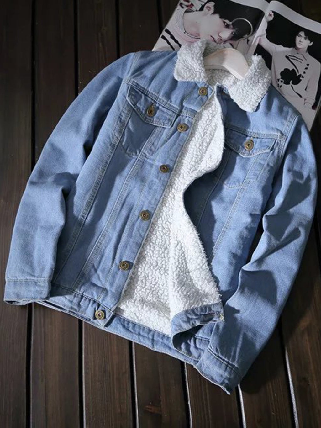 Fur Lining Denim Jacket
