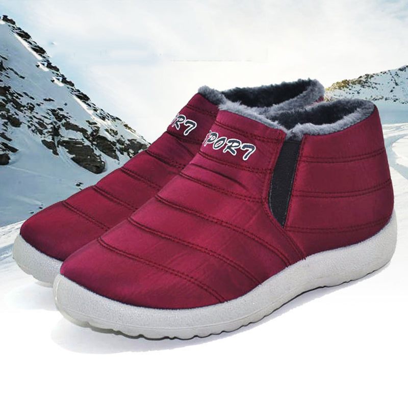 Waterproof Cloth Slip-on Snow Boots