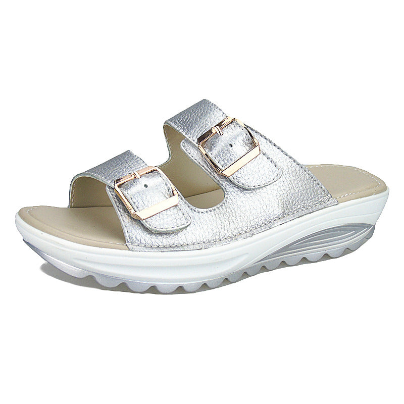 Buckle Women's Platform Beach Sandals