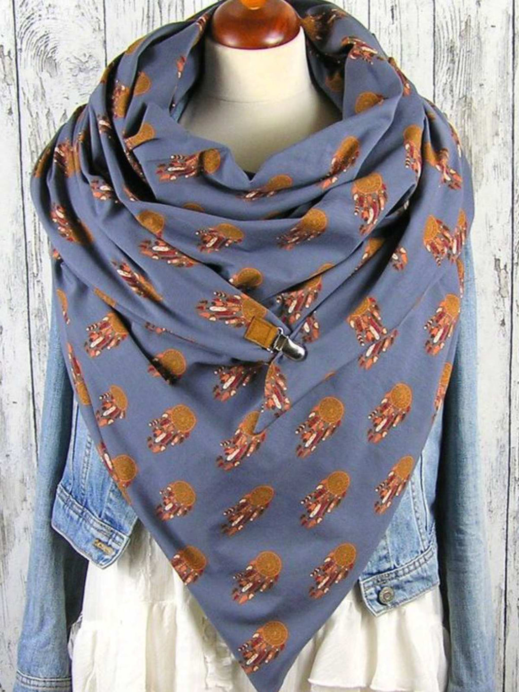 As Picture Abstract Casual Scarves & Shawls