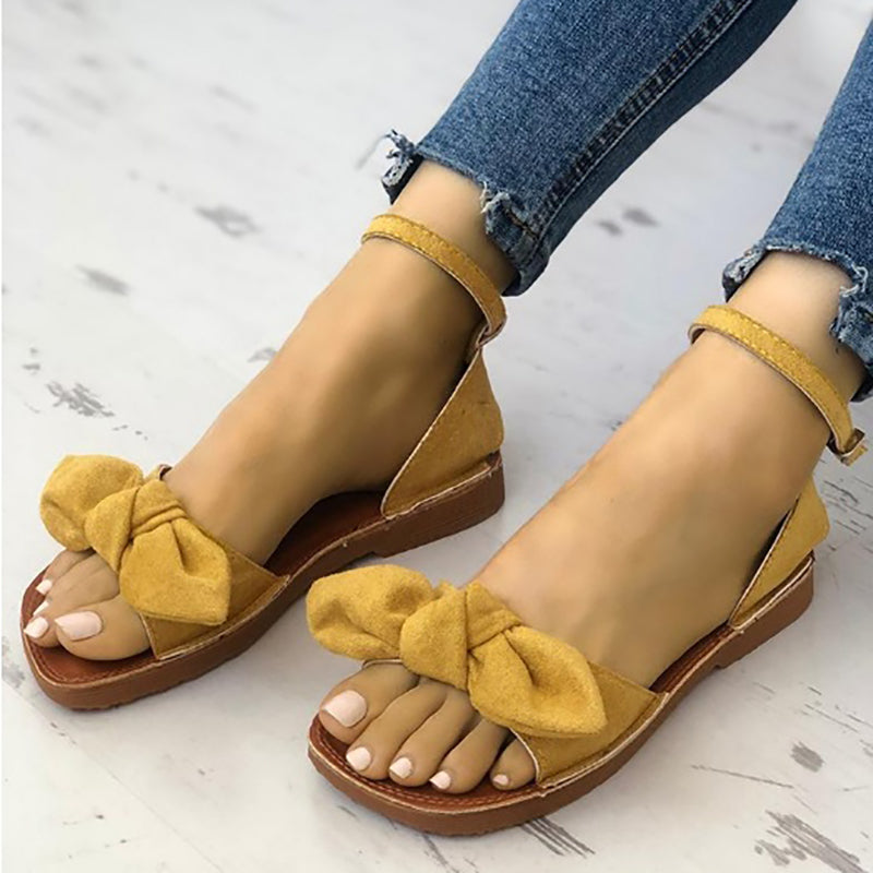 Bowknot Suede Spring/Fall Sandal