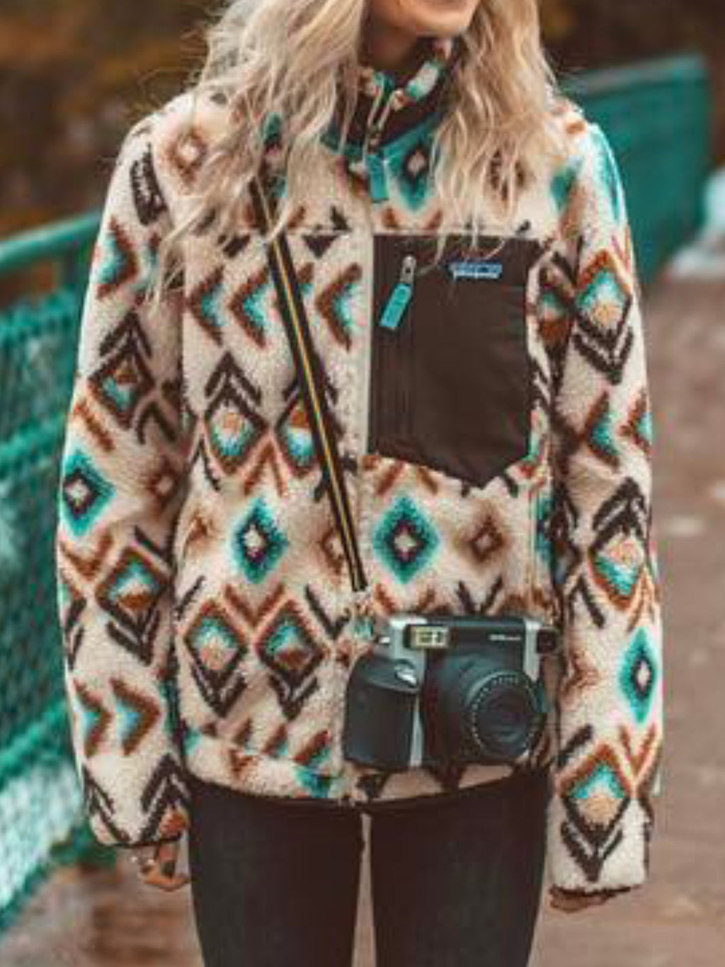 Shift Casual Floral-Print Tribal Sweatshirt
