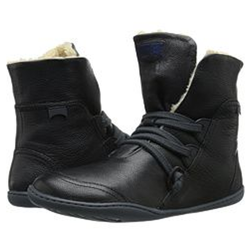 Flat Heel Leather Fall Boots