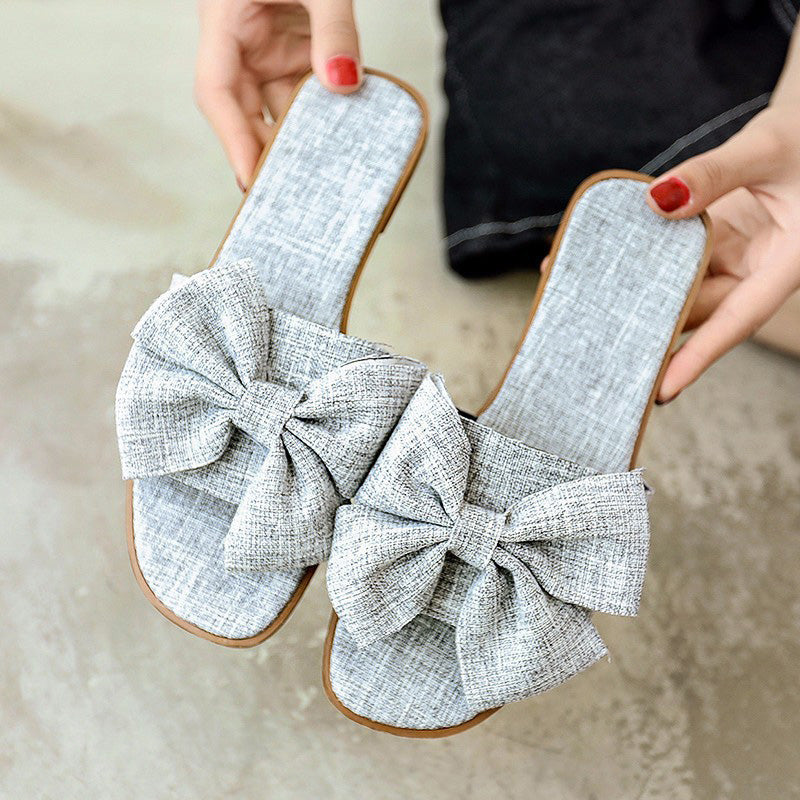 Women Canvas Slippers Casual Bowknot Espadrille Shoes