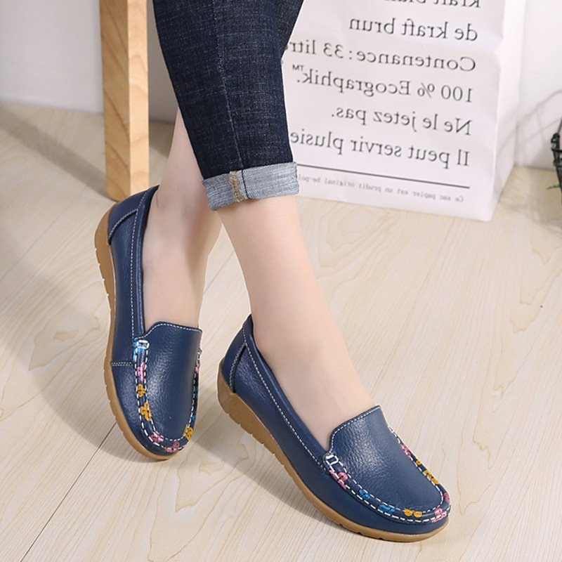 Women's Shoes Flat Heel Round Toe Yellow Casual Shoes