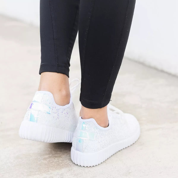 2019 New Flat Bottom Sequins Casual Large Size Women's Shoes