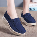Women Artificial Nubuck Casual Creepers Loafers