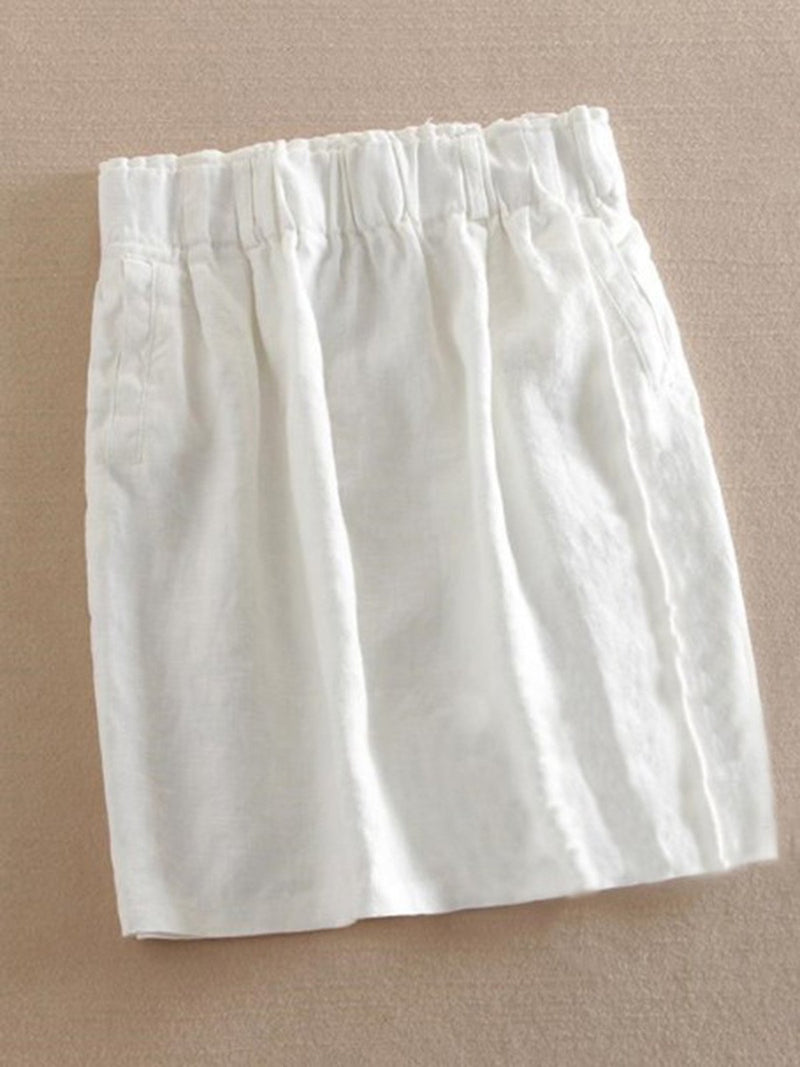 5Colors Casual Linen Skirts