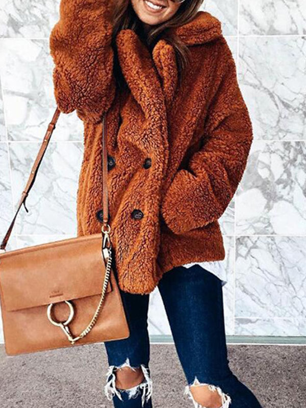 Solid Fur Sweet Coat