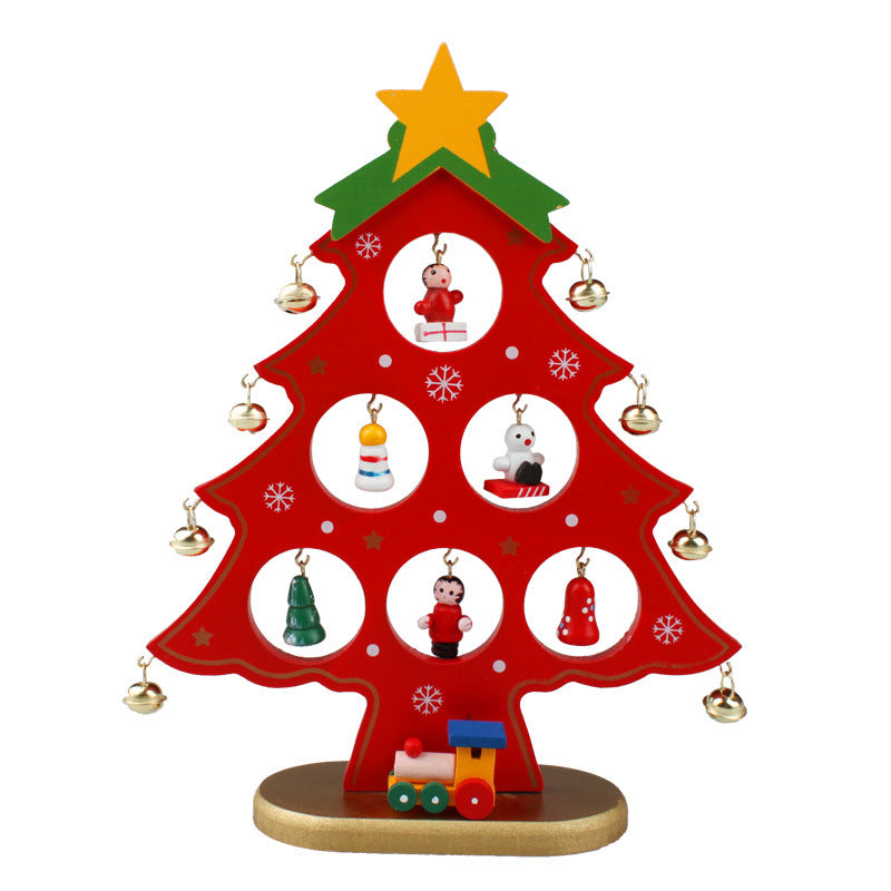 22cm Single Piece Wooden Christmas Tree Christmas Decorations Wooden Christmas Tree Ornaments Christmas Creative Gifts