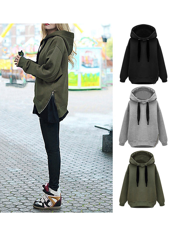 Womens Long Sleeve Paneled Hoodies