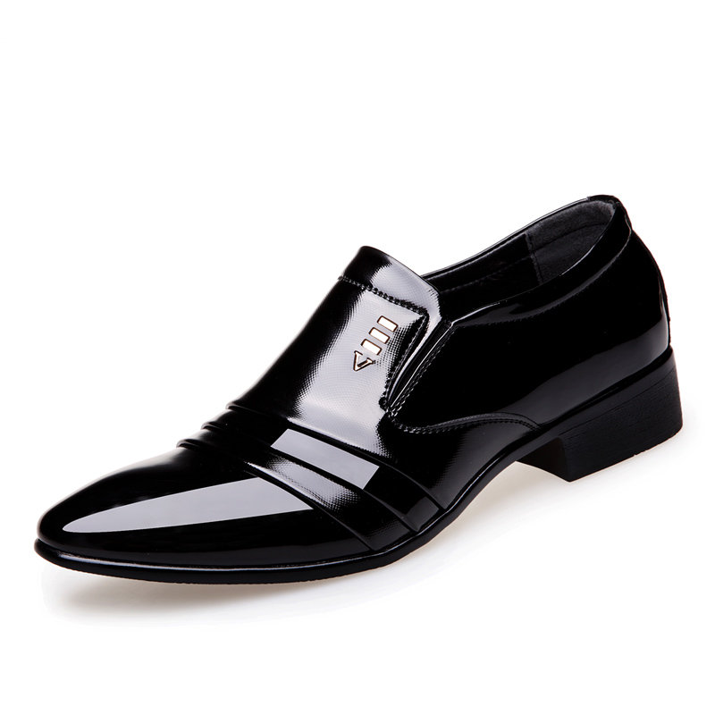Men Leather Slip On Business Causal Formal Dress Shoes