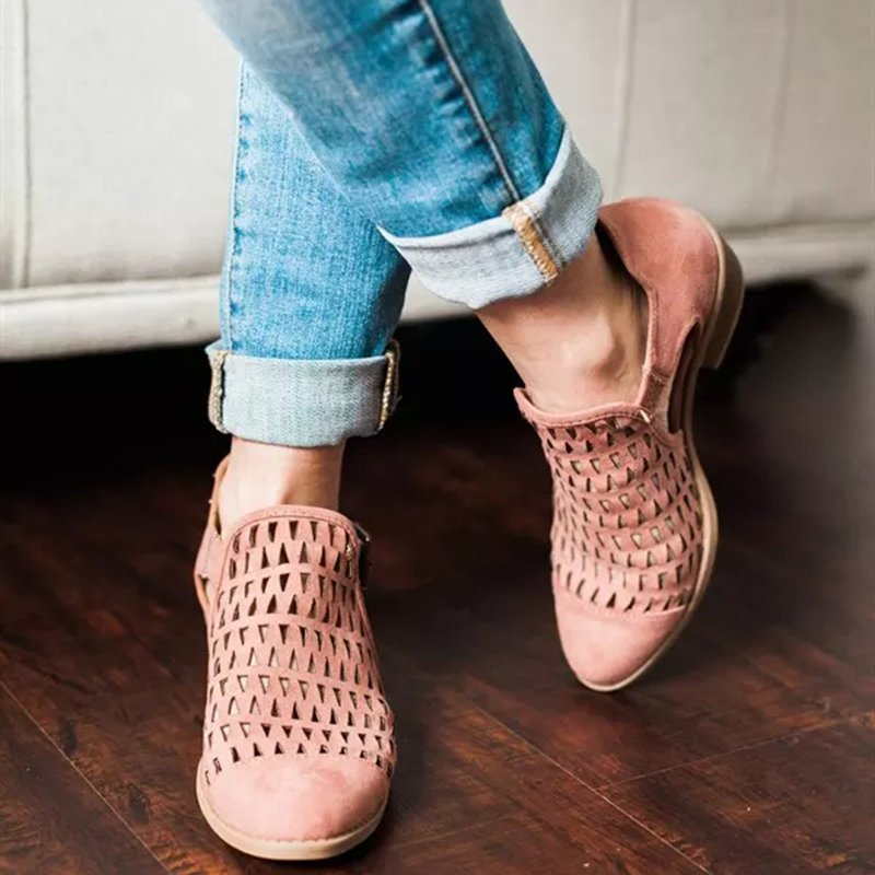 Women's Buckle Casual Round Toe Shoes