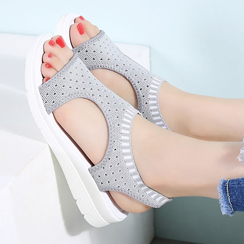 Women Fashion Sandals Casual Comfort Peep Toe Shoes