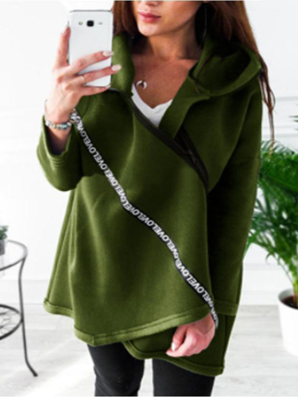 Casual  Loose Hooded Coat