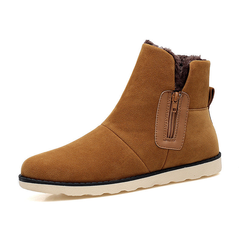 Wear-resistant Brushed High Top Men Snow Boots