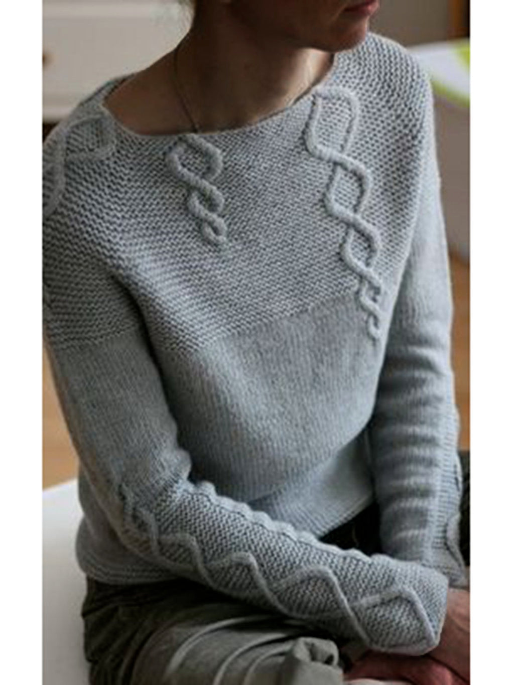 Women Long Sleeves Solid Sweaters