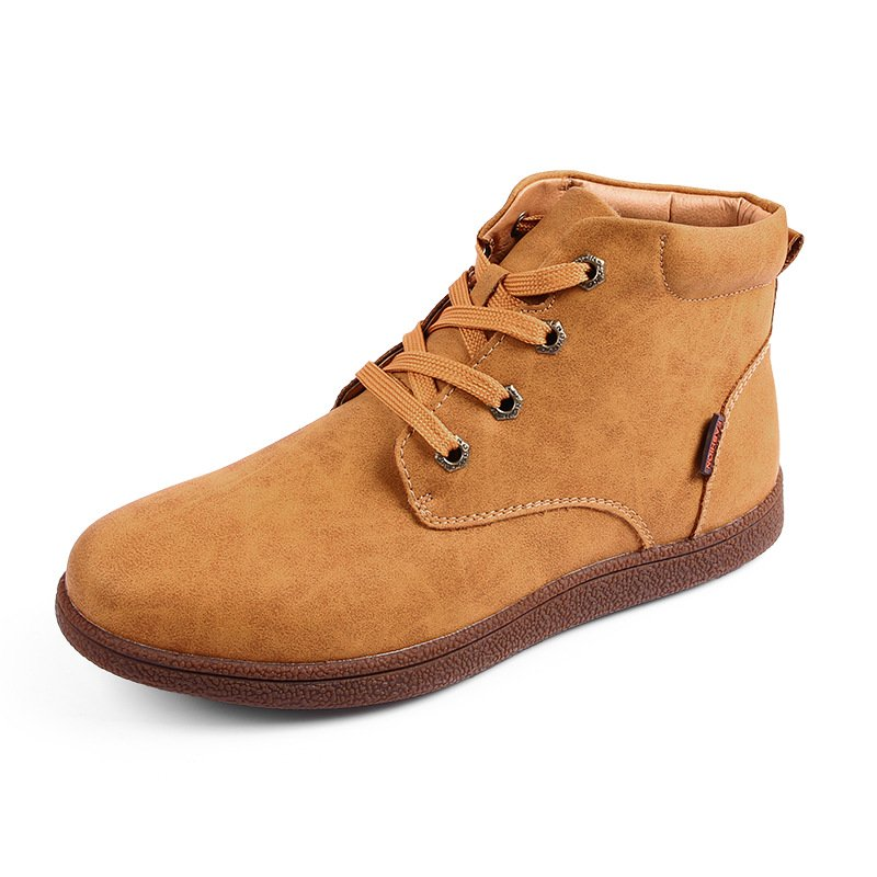 Winter Warm Cotton-padded Leather Boots for Men