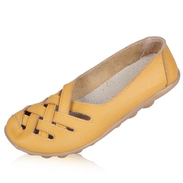 Hollow-out Slip-On Women's Skid-proof Flats