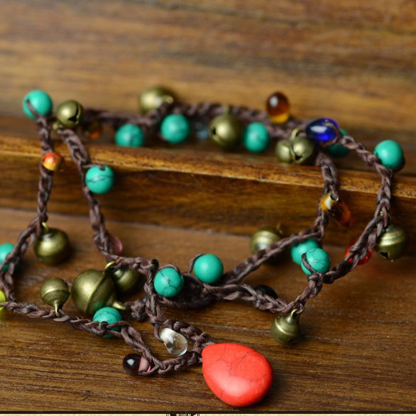 Multicolor Alloy Vintage Tribal Small Bells Bracelets