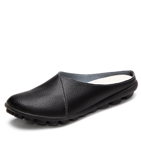Casual Slip-On Women's Leather Soft Flats