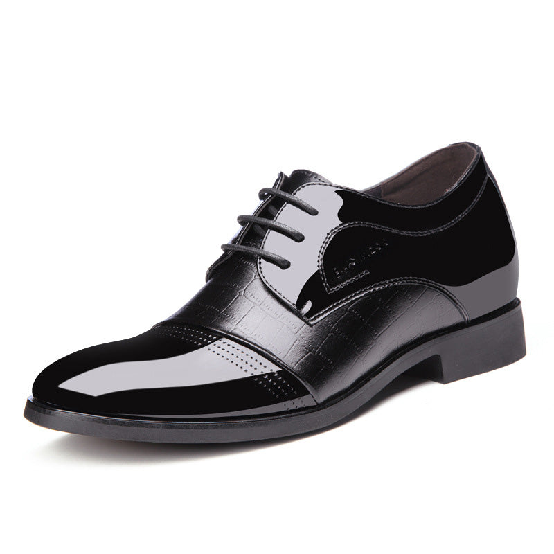Men Splicing Pointed Toe Breathable Business Casual Formal Shoes