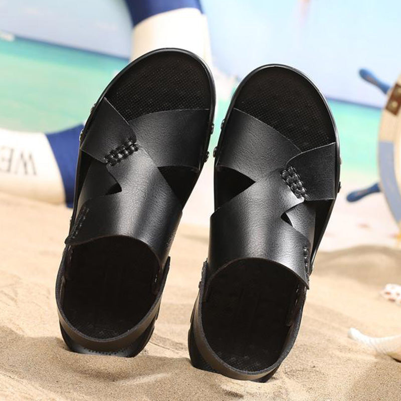 Men's Large Size Beach Slippers Sandals