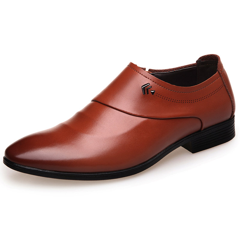Men Business Casual Microfiber Leather Slip On Shoes