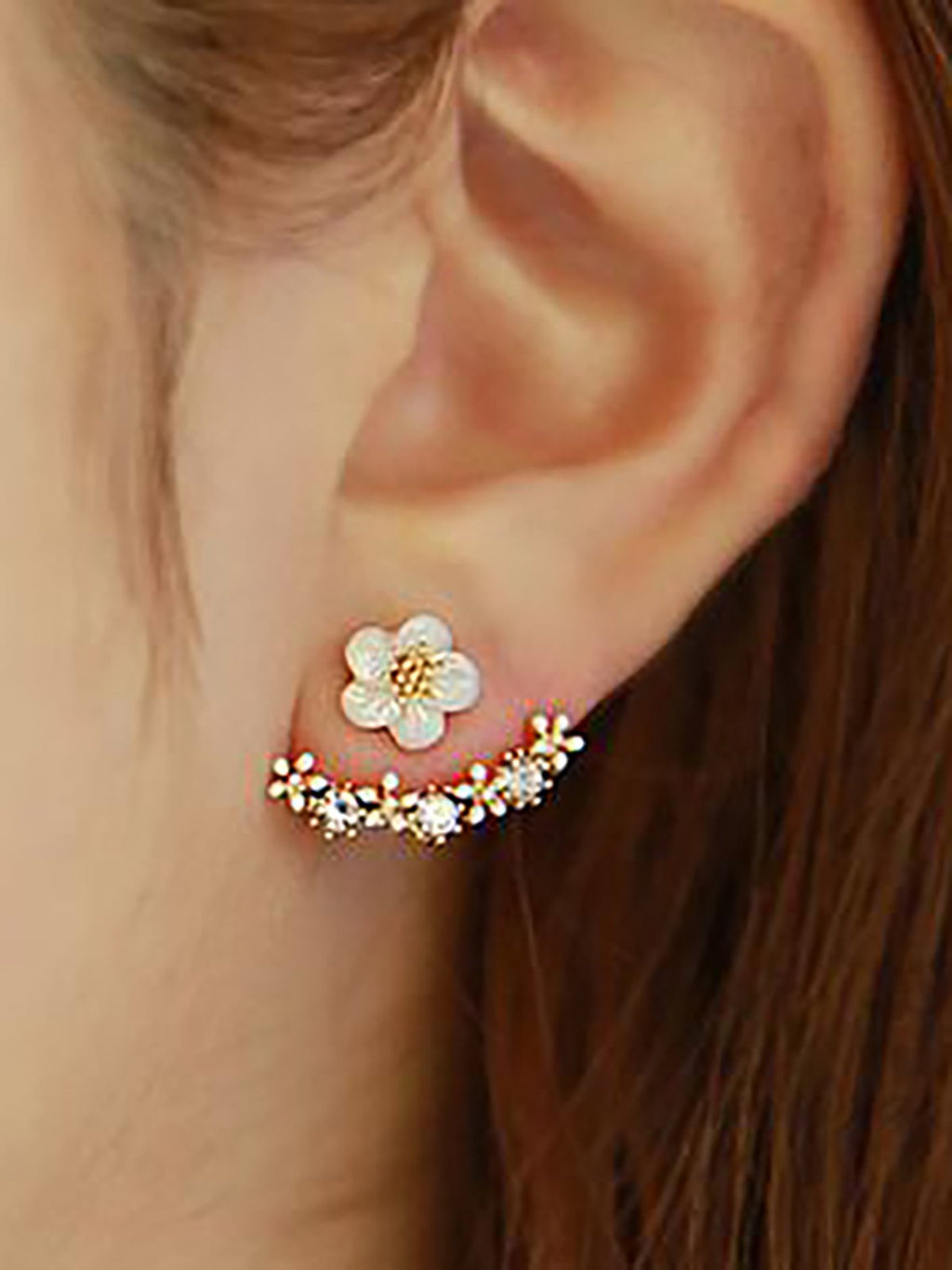 Girls Daisy Flower Earing
