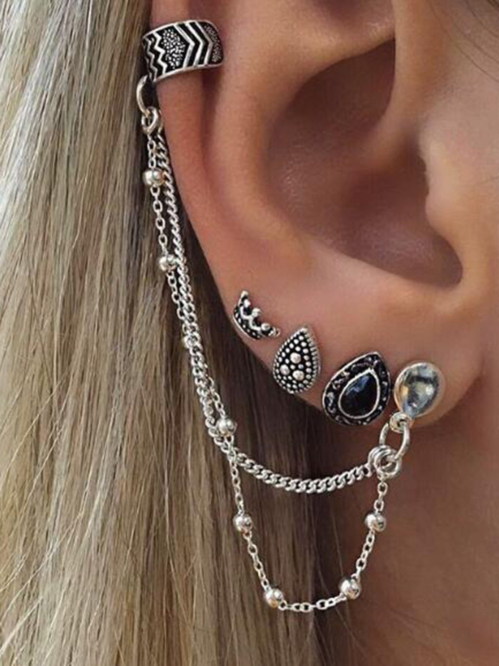 Hot selling Metal Rock Hippie Bohemian Earrings