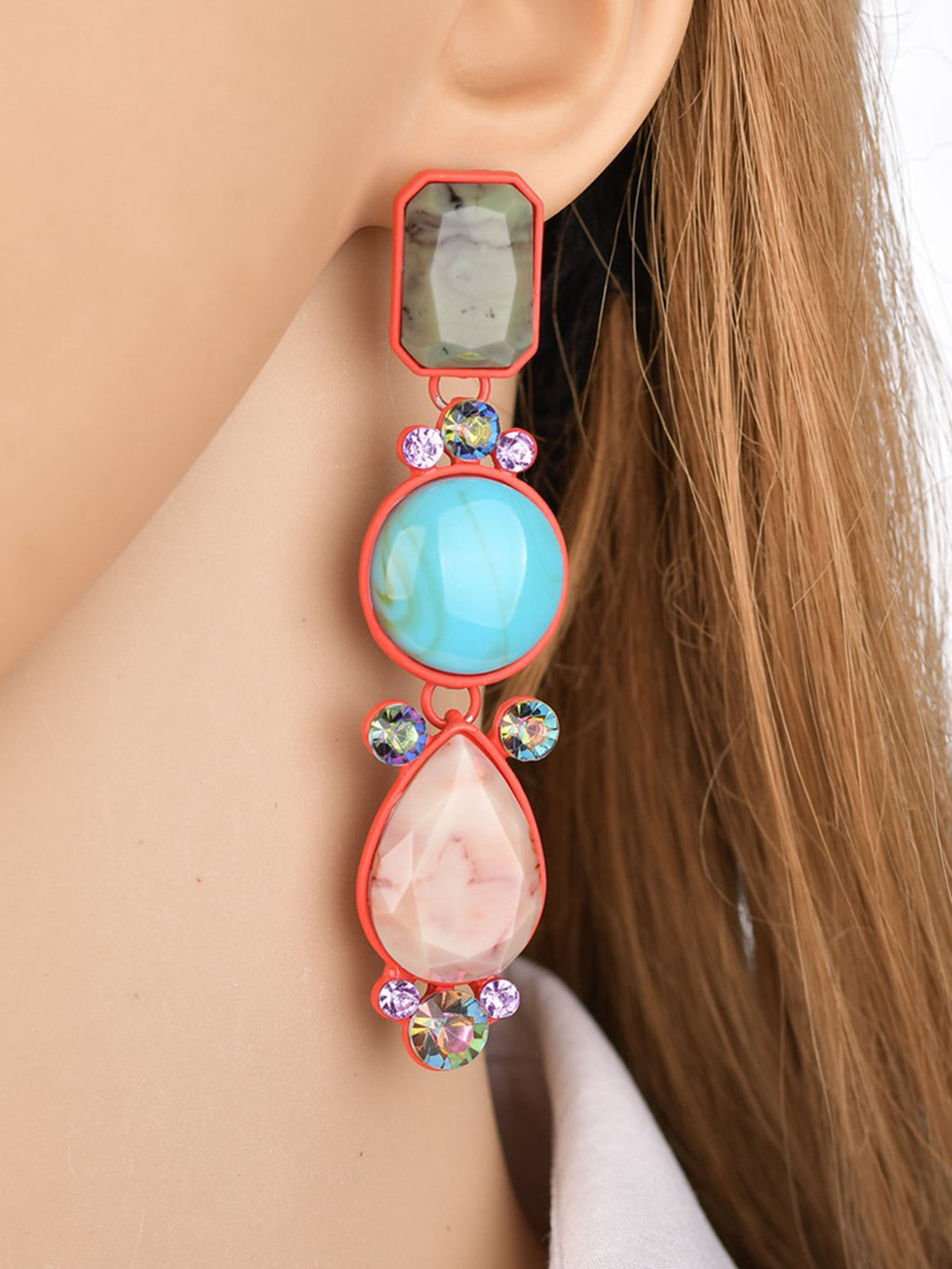 Womens Coloful Resin Earrings