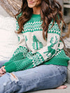Christmas Snowflake Elk Knitted Sweater