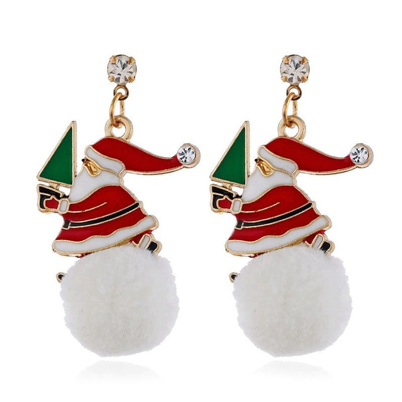Snowflake Earrings Santa Claus Earrings