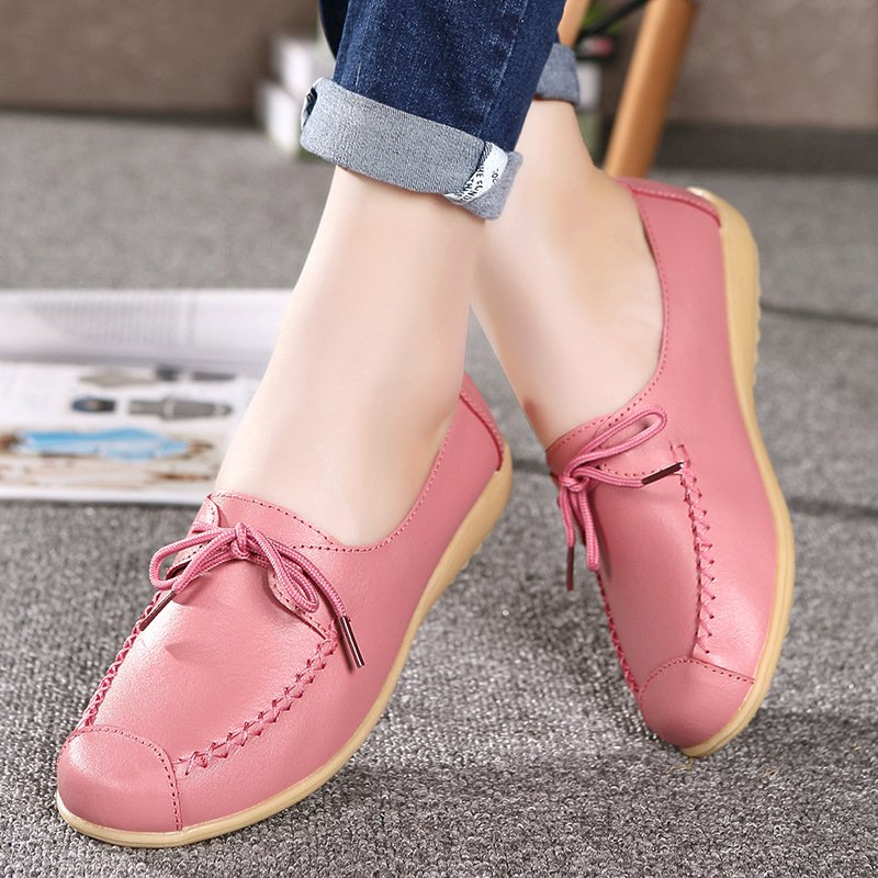 Women Slip On PU Loafers Casual Shoes
