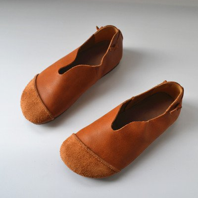Women's Retro Soft Leather Shoes With Soft Soles