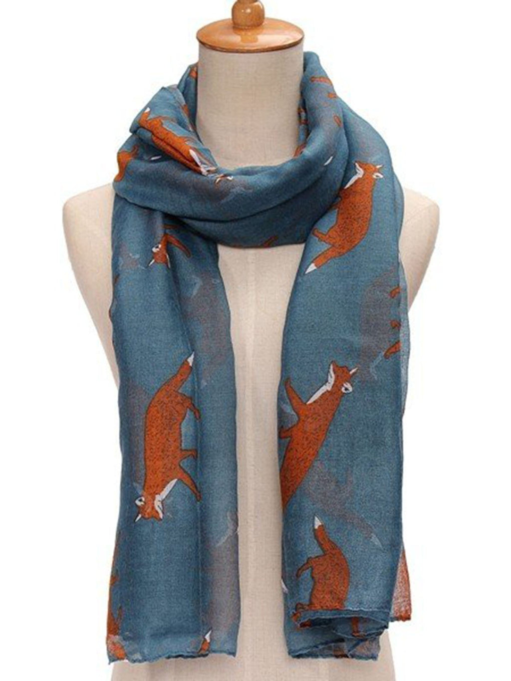 Fox Print Soft Women Scarf