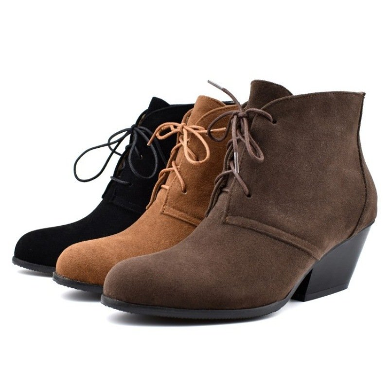 Women Split Joint Low Heel Boots
