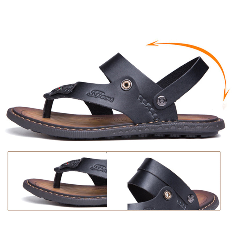 Daily Outdoor Seaside Microfiber Leather Men's Sandals