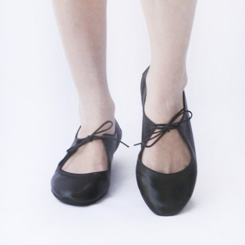 Womens Ballet Flats Comfortable Lace-Up Flats Summer Shoes