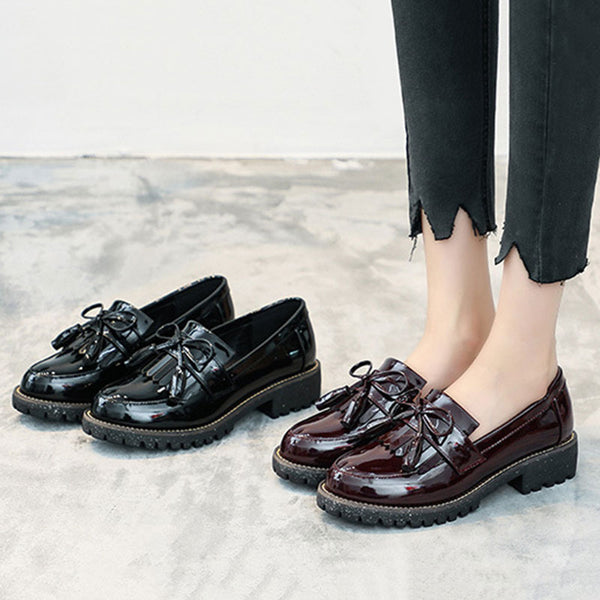 Daily Chunky Heel Bowknot Spring/fall Loafers