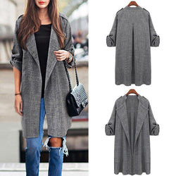 Casual Loose Long Sleeves Trench Coat