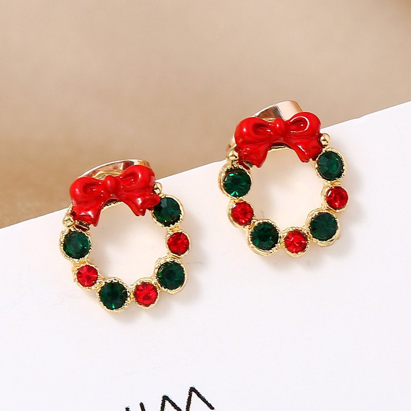 Christmas Circle Earrings