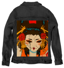 Load image into Gallery viewer, Black Denim Artwear Jacket - Oiran
